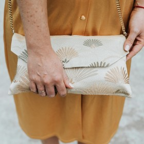 Gold Printed Handbag